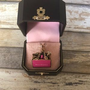 Juicy Couture Pink Shopping Gift Bag Pendant Charm